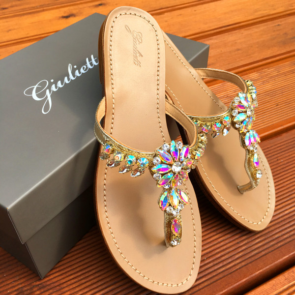 Italy crystal slipper-111508-20
