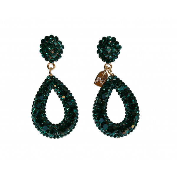 Giuliett Dona Czech Crystal Emerald Green-193814-20